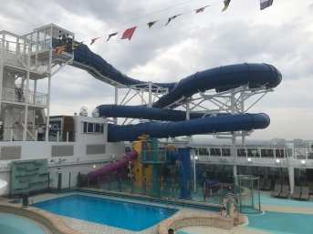 Waterslides on Norwegian Bliss