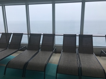 Lots of comfortable recliners on the deck.