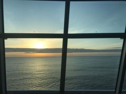 Sunsets in the Observation Lounge were amazing.