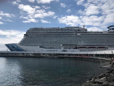 Bliss docked in Ponta Delgada, Azores.
