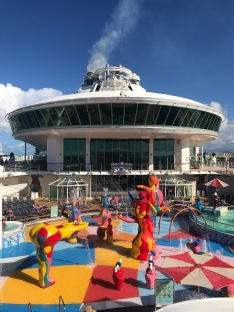 The waterpark on the pool deck is fantastic for kids!