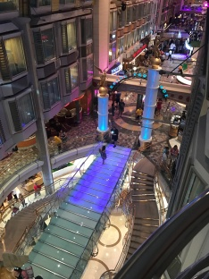 The Royal Promenade is a fantastic area in the ship with a lot of bars and shops.
