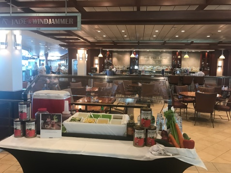 This ship had several bloody mary bars set up around the ship every morning!
