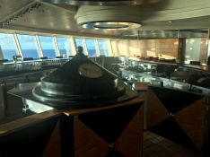One of my favorite bars - Olive or Twist at the top of the ship. Awesome views!