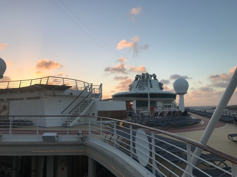 Nothing like sunrise on a cruise ship!